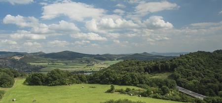 ceske: Ceske Stredohori mountains near Radejcin village Stock Photo
