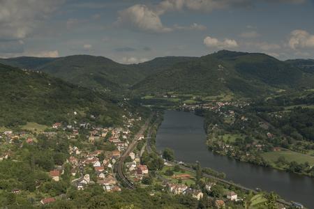 ceske: Ceske Stredohori mountains and valley of river Labe
