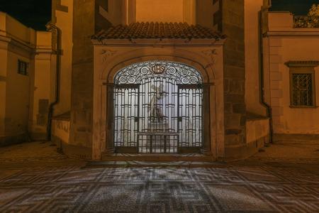ceske: Night in Ceske Budejovice town in south of Bohemia