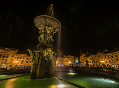 budweis: Budweis big square in summer night
