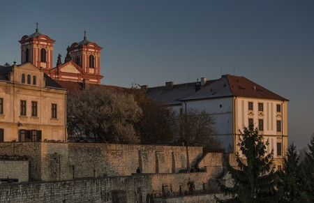 Litomerice town palaces in sunset time with nice colors