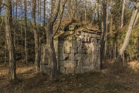 Earl chapel near Straci village in winter forest