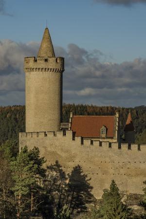 castles needle: Kokorin castle in sunny winter day with blue sky