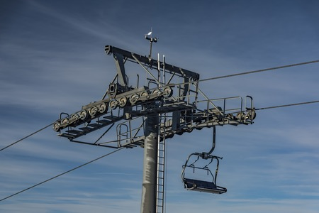 Seat cable car with two seats in Dolni Morava ski slope