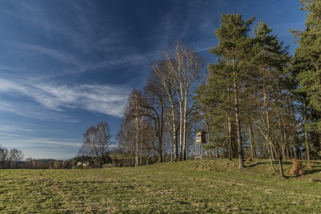 czech switzerland: Rynartice zona in primavera giornata di sole nel parco nazionale Archivio Fotografico