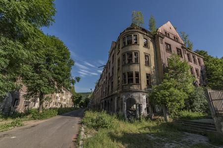 Old gipsy street Na Nivach in Usti nad Labem town