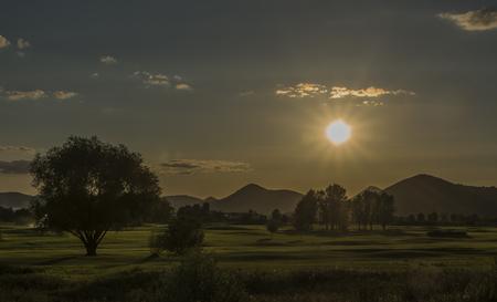 terezin: Summer hot evening near Terezin town and Ohre river