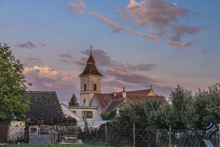 Lukov village in summer color evening near Znojmo old town