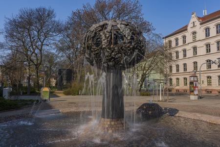Center city of Zwickau in east Germany in spring sunny color morning Reklamní fotografie