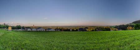 Sankt Radegund town near Graz city in Austria in summer hot color evening