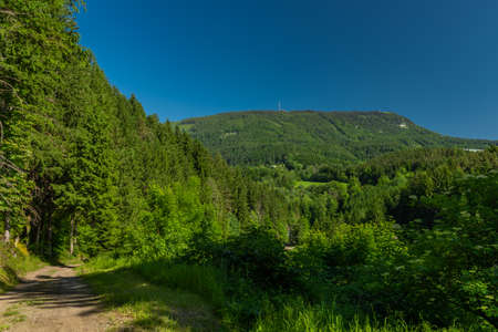Schockl hill near Sankt Radegund town in summer color fresh morning