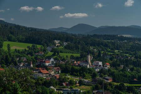 Sankt Radegund town near Graz city in Austria in summer hot color day 写真素材