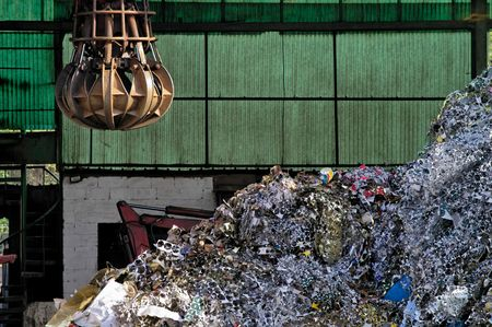 detritus: Industrial metallic scrap ready to be recycled Stock Photo