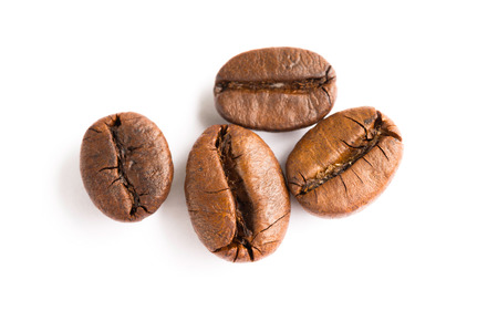 Coffee Beans with white background Stock Photo