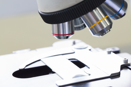 cytology: Close - up of Microscopes in Laboratory