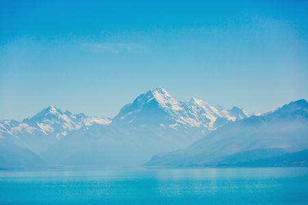AorakiMount Cook mirrored in Lake Pukaki