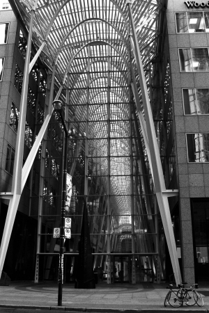 structure: Steel structure BCE Place in Toronto, Ontario Stock Photo
