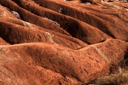 badland: A badlands  also badland  is a type of dry terrain where s