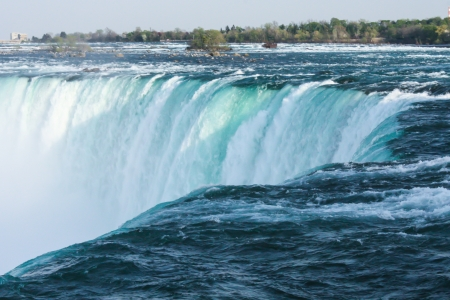 horseshoe falls: The Horseshoe Falls, also known as the Canadian Falls, is part of Niagara Falls, on the Niagara River