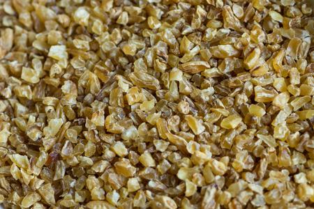 Close up of bulgur wheat