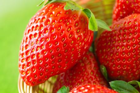 Fresh organic strawberries Stockfoto