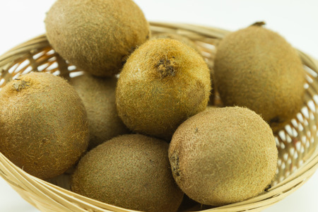 Kiwi fruits in a basket Stockfoto