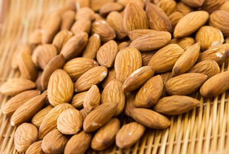Almonds in a basket