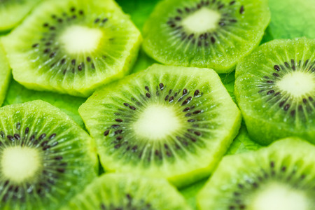 Slices of fresh kiwi fruits Stok Fotoğraf