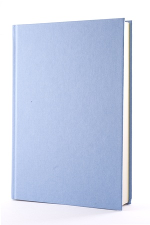 Blue book isolated on white. Vertical composition.