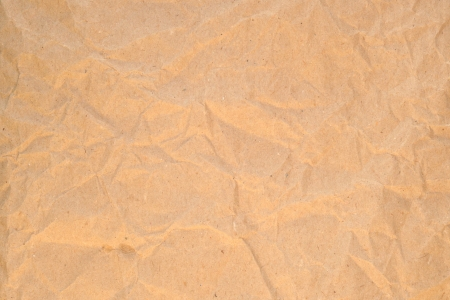 Frontal image of wrinkled recycled paper.