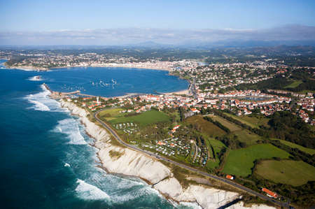 Aerial view of the Bay of Saint-Jean-de-Luz Stock Photo