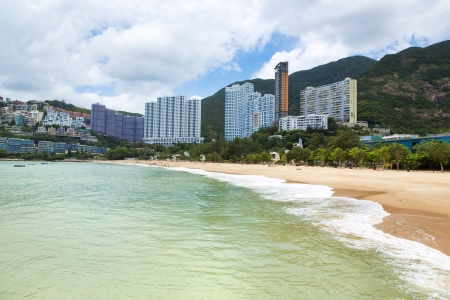 repulse: The beautiful view of Coral bay in Hong Kong, China Stock Photo