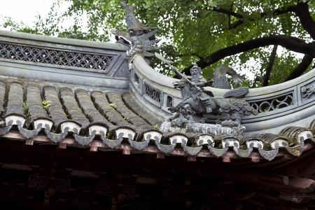 Ancient Chinese Yu Yuan Garden in Shanghai, China photo