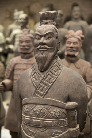 terracotta: Beautiful view of the terracotta army in Xian, China
