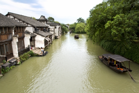 waterway: The scenery of Wuzhen, one of the Chinese ancient town