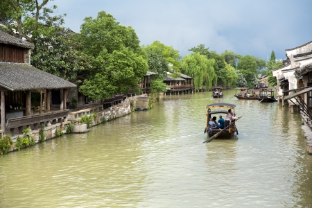 Het landschap van Wuzhen, een van de Chinese oude stad