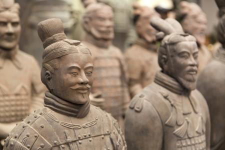 Mooi uitzicht op het terracotta leger in Xian, China