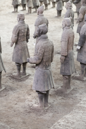 Beautiful view of the terracotta army in Xian, China