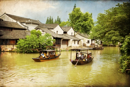 hunan: The scenery of Wuzhen, one of the Chinese ancient town