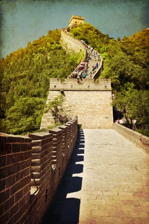 greatwall: The beautiful view of the Great Wall of China Editorial