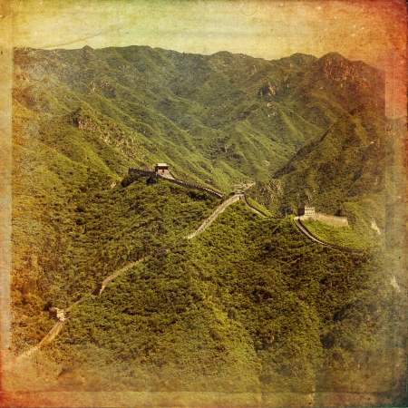 greatwall: The beautiful view of the Great Wall of China Stock Photo