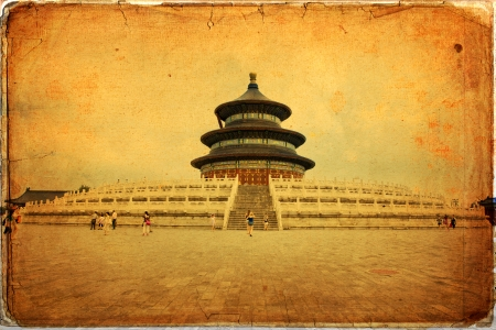 The beautiful view of the Temple of Heaven in Beijing, China