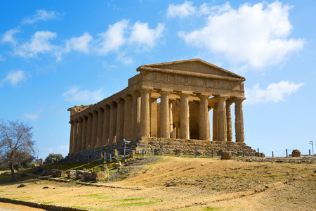 Temple of Concordia. Valley of the Temples in Agrigento on Sicily, Italy photo