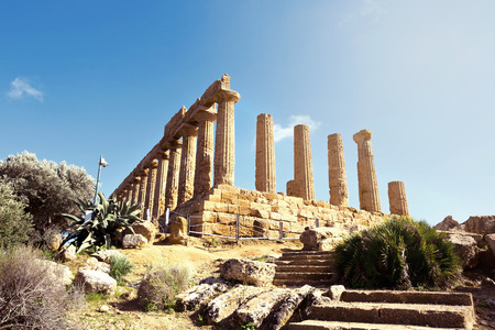 Temple of Concordia. Valley of the Temples in Agrigento on\ Sicily, Italy