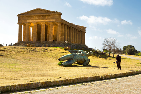 concordia: Temple of Concordia. Valley of the Temples in Agrigento on Sicily, Italy Stock Photo