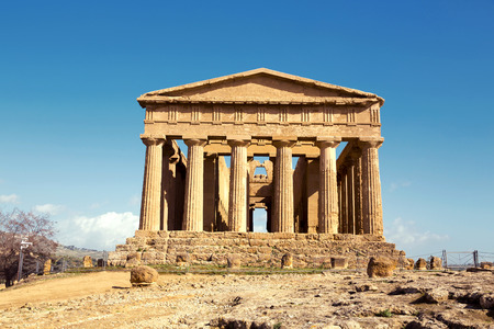 unesco world cultural heritage: Temple of Concordia. Valley of the Temples in Agrigento on Sicily, Italy Stock Photo