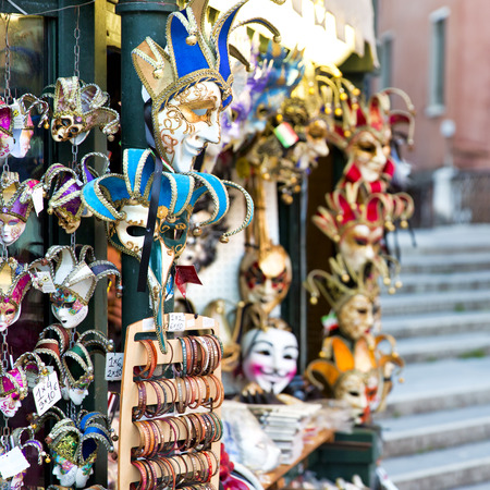 carnival masks: Beautiful view of Venice with carnival masks