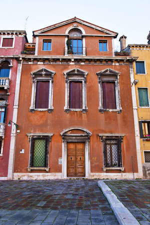 architecture ancient: Typical venetian architecture, ancient buildings and historical buildings