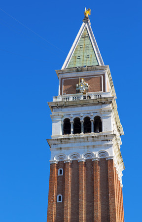 campanile: St Marks Campanile. Campanile di San Marco in Italian, the bell tower of St Marks Basilica in Venice, Ital