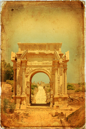 severus: Beautiful view of Arch of Septimus Severus, Leptis Magna, Libya